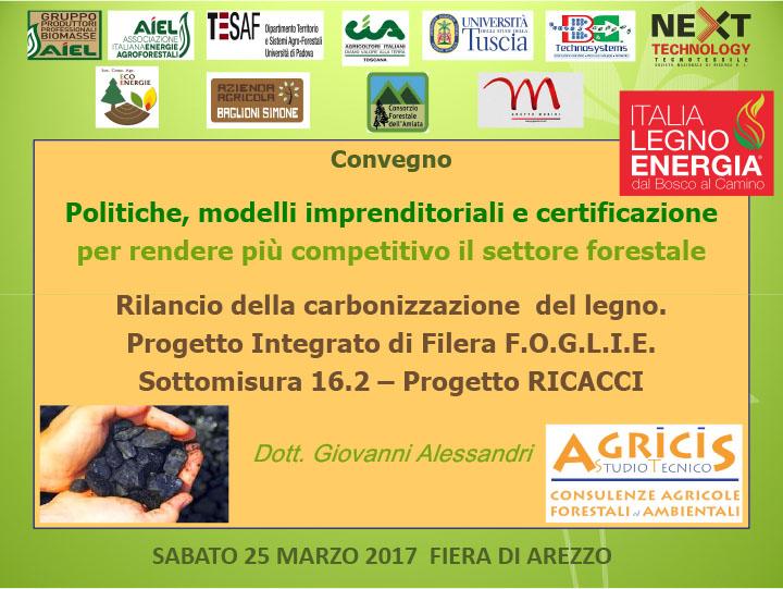 Progetto RICACCI. La relazione del dott. Giovanni Alessandri al convegno di Italia Legno Energia del 25 marzo 2017